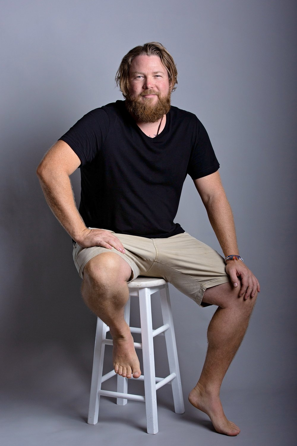 commercial photographer, headshots in a studio on the sunshine coast